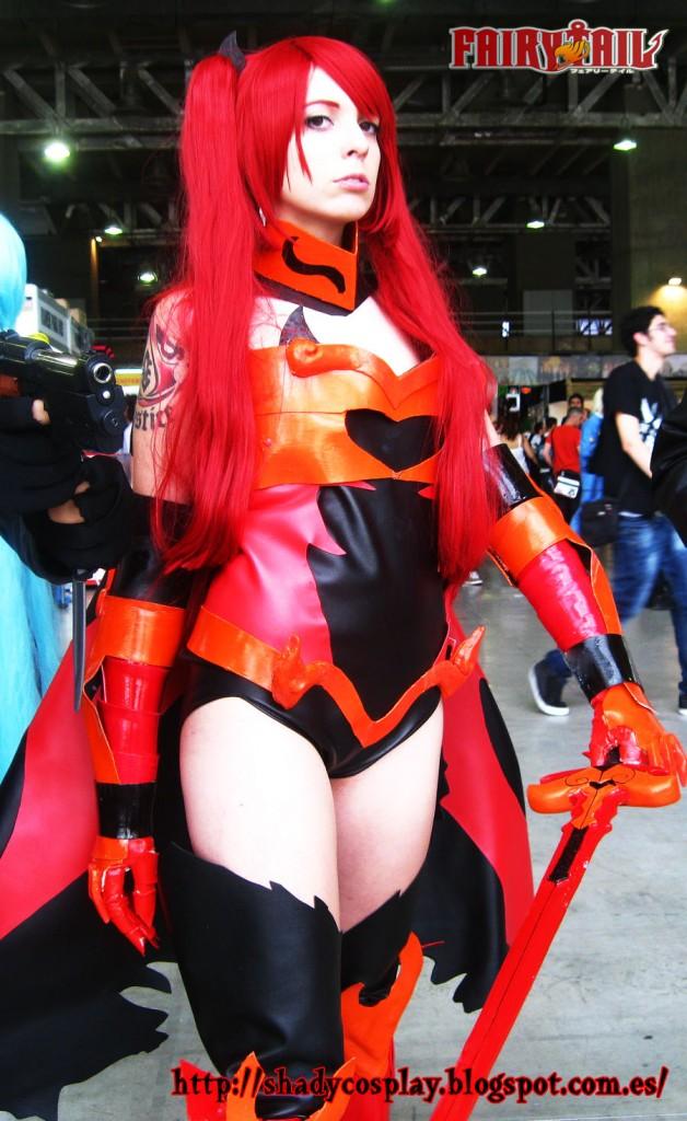 Storm  Erza Scarlet Flame Fire Empress Armor from Fairy Tail CosplayFairy Tail Erza Flame Empress Armor