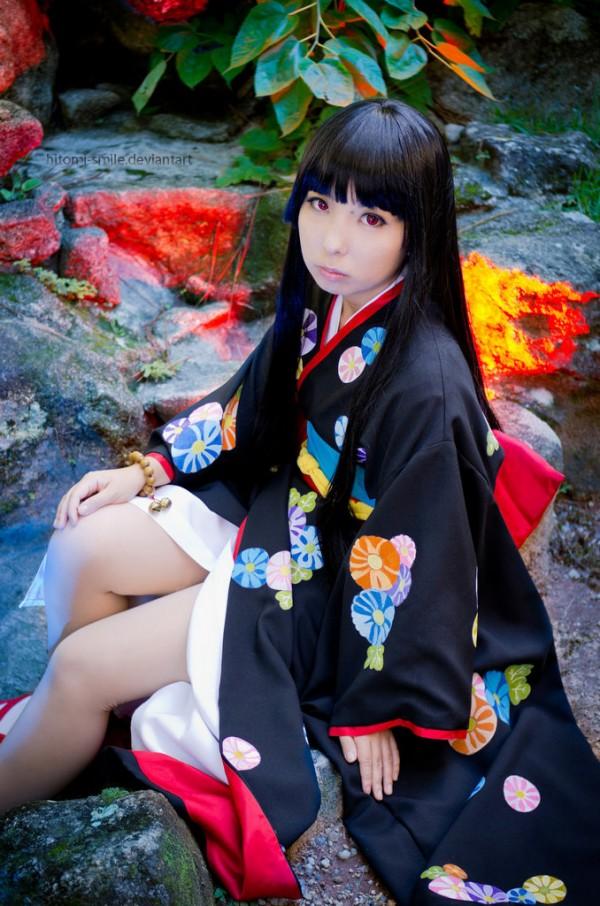 Otaku House Cosplay Idol » Hitomi: Enma Ai from Jigoku Shoujo