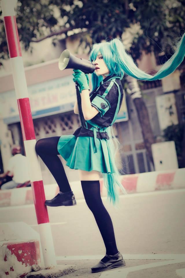 Cosplay vocaloid hatsune miku spoiling her fans - 1 part 6