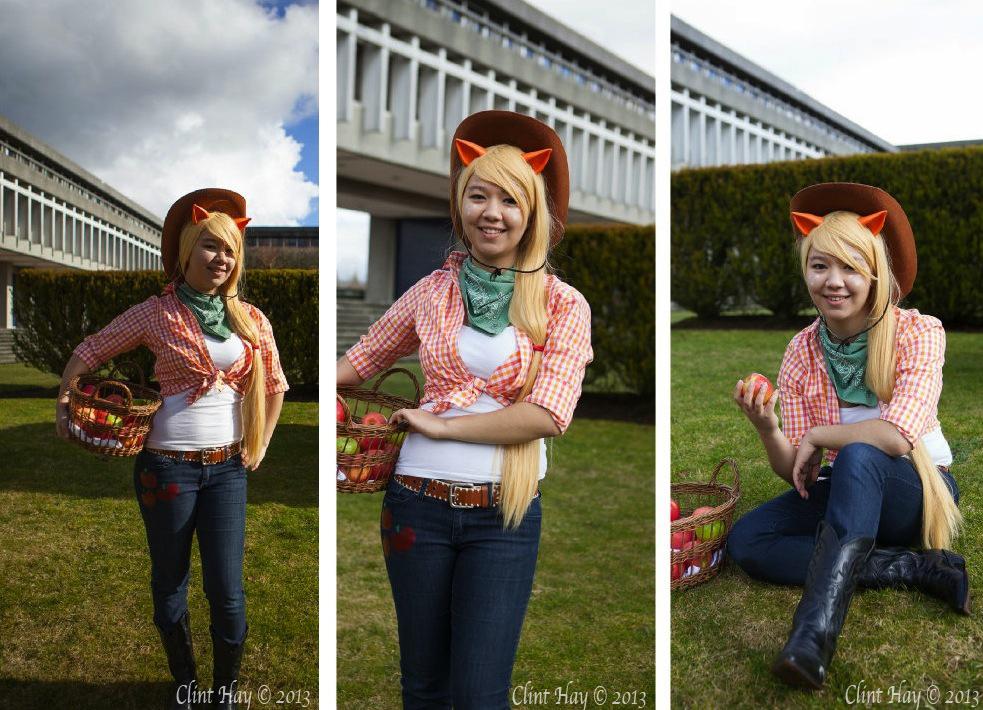 otaku house cosplay idol 187 emma fox applejack from my