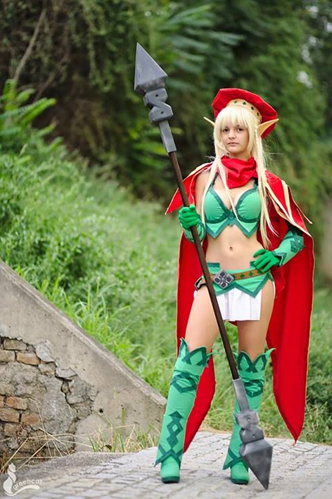 otaku house cosplay idol tania alleyne from queen s blade